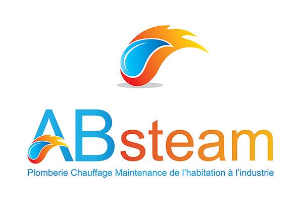 création Logo ab-steam Blois Loir-et-cher