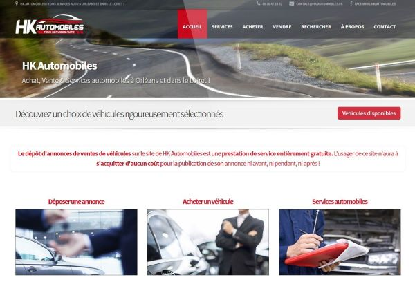 création site internet hk automobiles