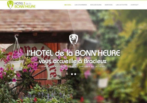 création site internet hôtel de la Bonn'heure
