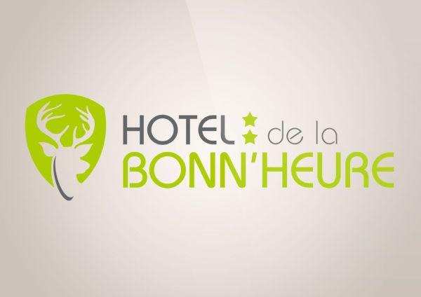 conception logo et carte de visite hôtel de la Bonn'heure