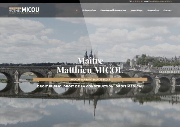 création site internet Maître Matthieu MICOU
