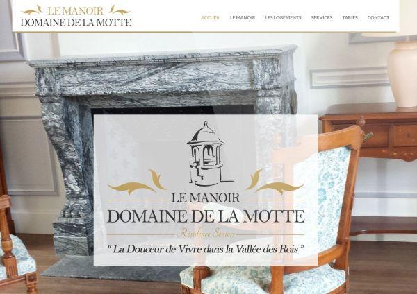 création site internet Manoir Domaine de la Motte