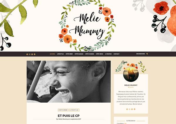 création site internet blog maman melie mummy Blois Loir-et-cher