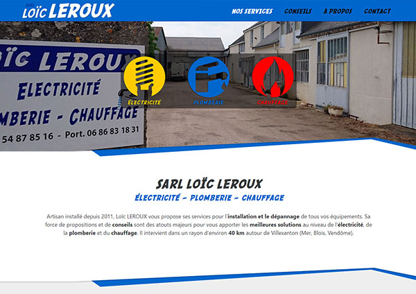 création site internet artisans sarl loic leroux