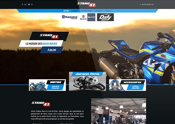 création site internet concessionnaire moto Blois Loir-et-cher