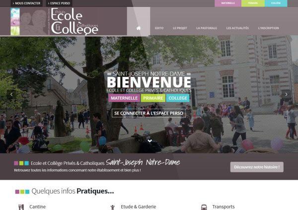 création site internet Saint-Joseph Notre-Dame