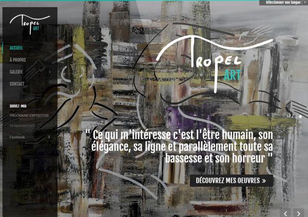 création site internet Tropel Art